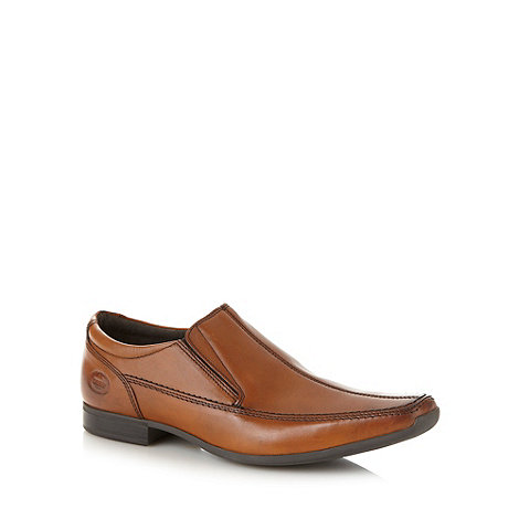 Base London - Tan leather split apron front shoes