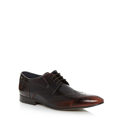 Base London - Plum leather shine point brogues
