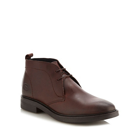 Base London - Dark brown leather chukka boots