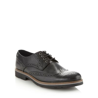 Base London Black leather brogues - . -