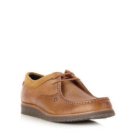Base London - Tan leather apron toe shoes