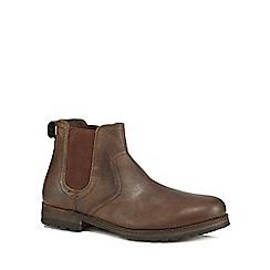 Mantaray - Dark brown leather 'Kazan' Chelsea boots