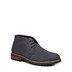 Red Herring - Navy leather 'Vela' chukka boots