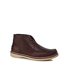 Red Herring - Burgundy leather 'Kant' Chukka boots