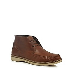 Red Herring - Brown leather 'Kant' chukka boots