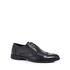 Red Herring - Black leather 'Aiden' Derby shoes