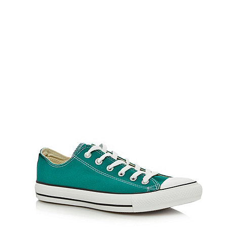Converse - Green +All Star+ canvas trainers