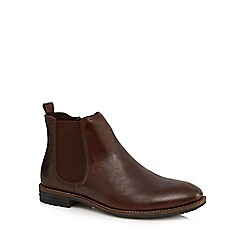 Mantaray - Dark brown leather 'Kiev' Chelsea boots