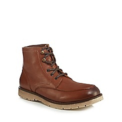 Mantaray - Tan leather 'Minsk' lace up boots