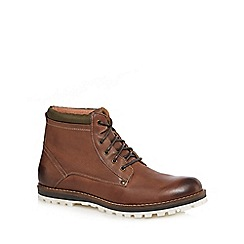 Red Herring - Brown leather lace up boots