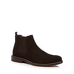 J by Jasper Conran - Chocolate brown suede Chelsea boots
