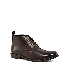 Jeff Banks - Dark brown leather 'Darwin' chukka boots
