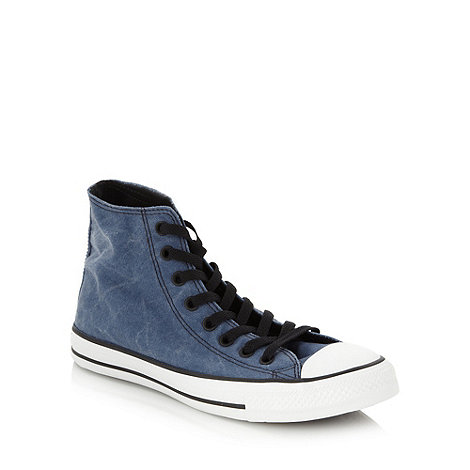 Converse - Blue vintage hi-top trainers