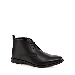 Jeff Banks - Black leather 'Darwin' chukka boots