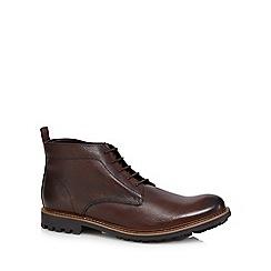 RJR.John Rocha - Dark brown leather chukka boots