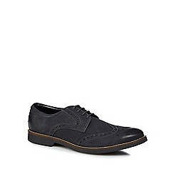 RJR.John Rocha - Dark grey leather 'Bale' brogues
