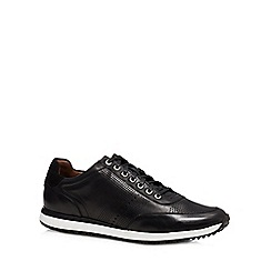 J by Jasper Conran - Black leather 'Trento' trainers
