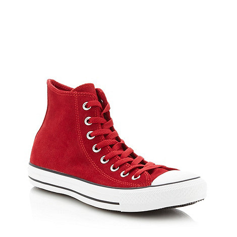 Converse - Converse red suede +All Star+ hi-top trainers
