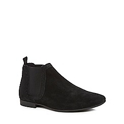 Red Herring - Black suede 'Kansas' Chelsea boots