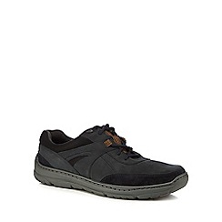Maine New England - Navy leather 'Belay' trainers