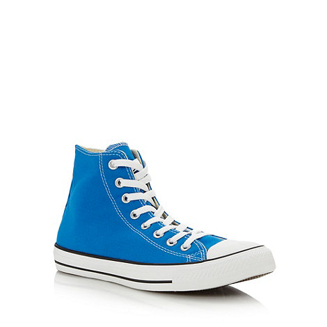 Converse - Bright blue +All Star+ hi-top trainers