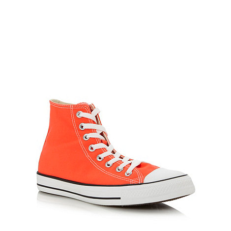 Converse - Bright orange 'All Star' hi-top trainers