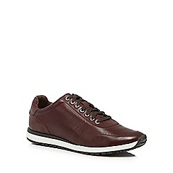 J by Jasper Conran - Plum leather 'Trento' trainers