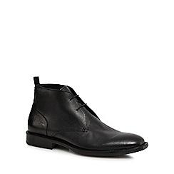 Hammond & Co. by Patrick Grant - Black leather 'Humber' chukka boots