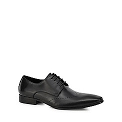 Jeff Banks - Black leather 'Reeves' Derby shoes