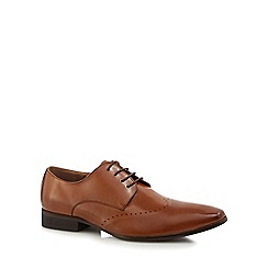 Jeff Banks - Tan leather 'Reeves' derby shoes