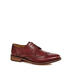 Red Herring - Dark red leather 'Mason' brogues