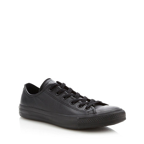 Converse - Converse black leather +All Star+ trainers