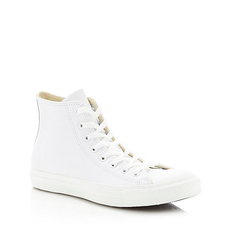 Converse - Converse white leather +All Star+ hi-top trainers