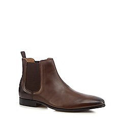 Red Herring - Brown leather 'Mars' Chelsea boots