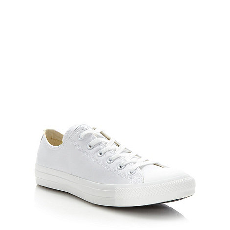 Converse - White plain low trainers