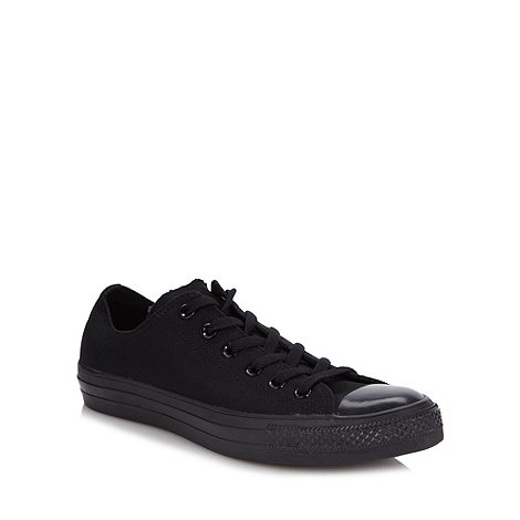Converse - Black +All Star+ canvas trainers