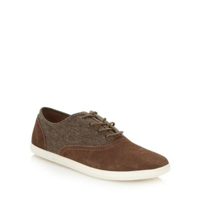 Call It Spring Brown suede leather and canvas ´Skolfield´ trainers - . -