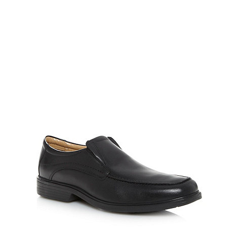 Henley Comfort - Black +Airsoft+ leather apron slip on shoes