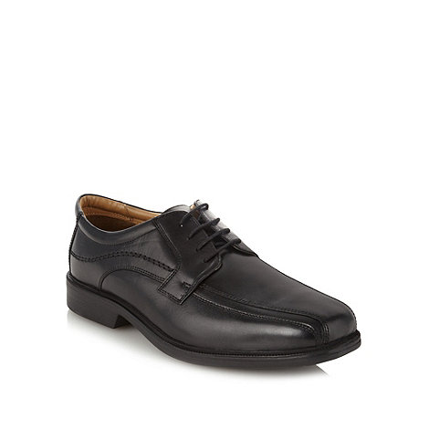 Henley Comfort - Black +Airsoft+ leather tramline stitch shoes