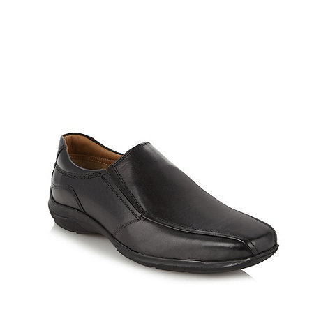 Henley Comfort - Black +Airsoft+ leather comfort slip on shoes