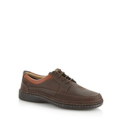 Henley Comfort - Chocolate suede leather lace up shoes