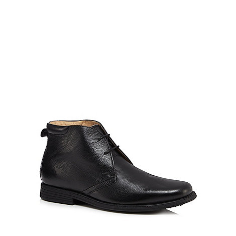 Henley Comfort - Black chukka leather boots