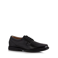 Henley Comfort - Wide fit black leather lace up shoes
