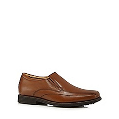 Henley Comfort - Tan leather padded slip on shoes