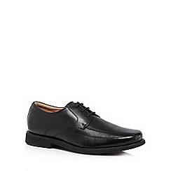 Henley Comfort - Black leather tramline lace shoes