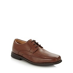 Henley Comfort - Brown leather tramline stitched lace up shoes