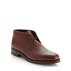 Loake - Wide fit brown leather laced boots