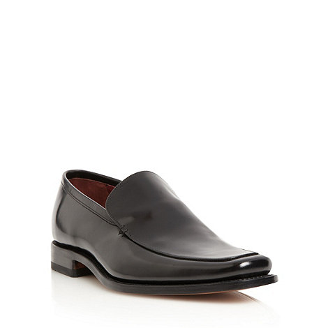 Loake - Black leather formal slip on shoes