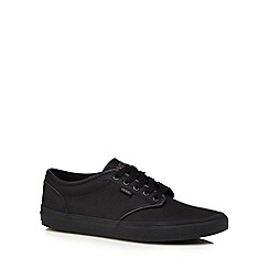 Vans - Black leather 'Atwood' trainers