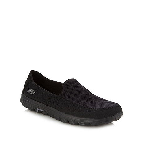 Skechers GOrun - Black mesh slip on trainers